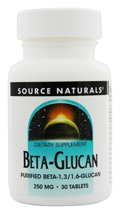 DROPPED: Source Naturals - Beta Glucan 250 mg. - 30 Tablets