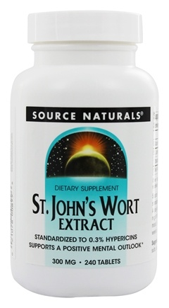 DROPPED: Source Naturals - Saint John's Wort Extract 300 mg. - 240 Tablets
