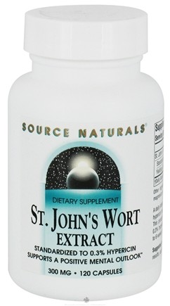 DROPPED: Source Naturals - Saint John's Wort Extract 300 mg. - 120 Capsules CLEARANCE PRICED