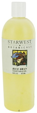 DROPPED: Starwest Botanicals - Rice Bran Vegetable Oil - 16 oz. CLEARANCE PRICED
