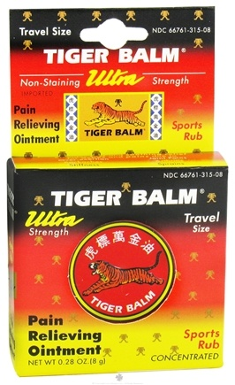 DROPPED: Tiger Balm - Ultra Strength Pain Relieving Ointment- Travel Size - 0.28 oz.