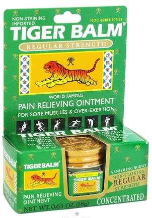 DROPPED: Tiger Balm - Regular Strength Pain Relieving Ointment - 0.63 oz. Formerly White
