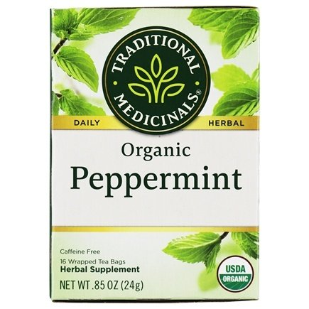 Traditional Medicinals - Organic Peppermint Tea - 16 Tea Bags