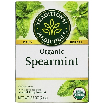 Zoom View - Organic Spearmint Tea - Aromatic and Sweet