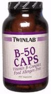 DROPPED: Twinlab - B-50 Complex - 250 Capsules
