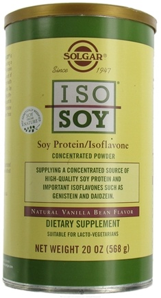 DROPPED: Solgar - Iso-Soy Soy Protein/Isoflavone Concentrated Powder Natural Vanilla Bean Flavor - 20 oz.