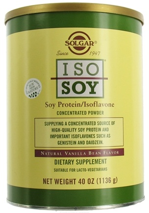 DROPPED: Solgar - Iso-Soy Soy Protein/Isoflavone Concentrated Powder Natural Vanilla Bean Flavor - 40 oz.