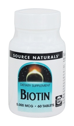 Source Naturals - Biotin 5 mg. - 60 Tablet(s)