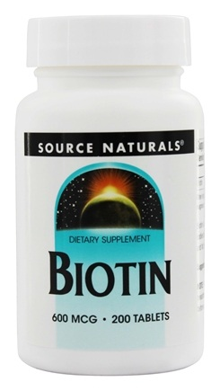 Source Naturals - Biotin 600 mcg. - 200 Tablets