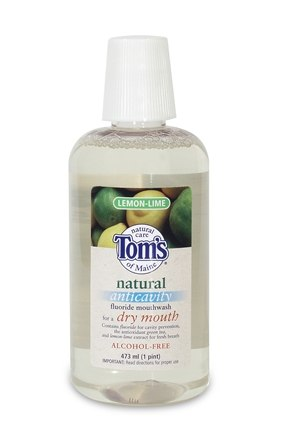 DROPPED: Tom's of Maine - Natural Anticavity Fluoride Mouthwash for a Dry Mouth Lemon/Lime - 16 oz.