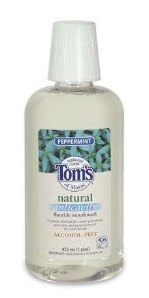 DROPPED: Tom's of Maine - Natural Anticavity Fluoride Mouthwash Peppermint - 16 oz.