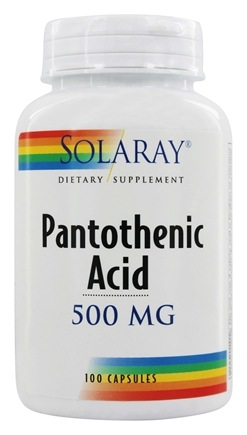 Solaray - Pantothenic Acid 500 mg. - 100 Capsules