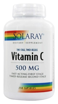 Solaray - Vitamin C Two-Stage Timed-Release 500 mg. - 250 Capsules