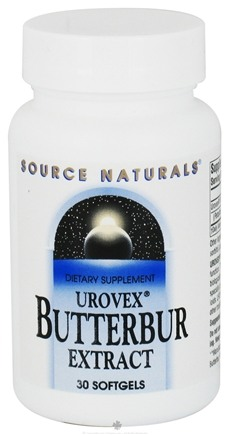 DROPPED: Source Naturals - Urovex Butterbur Extract 50 mg. - 30 Softgels CLEARANCE PRICED