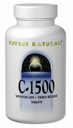 DROPPED: Source Naturals - C-1500 with Rose Hips Timed Release 1500 mg. - 100 Tablets