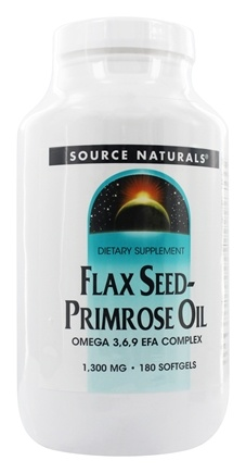 Source Naturals - Flax Seed-Primrose Oil 1300 mg. - 180 Softgels