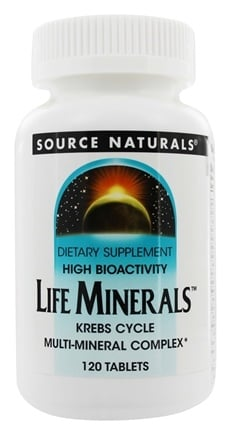 DROPPED: Source Naturals - Life Minerals High Bioactivity Krebs Cycle Multi-Mineral Complex - 120 Tablets