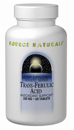 DROPPED: Source Naturals - Trans-Ferulic Acid Antioxidant Support 250 mg. - 60 Tablets CLEARANCE PRICED