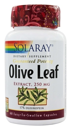 Solaray - Guaranteed Potency Olive Leaf Extract 250 mg. - 60 Capsules