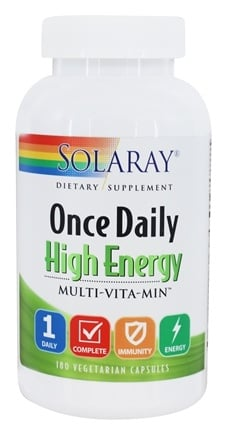 Solaray - Once Daily High Energy Multi-Vita-Min - 180 Capsules