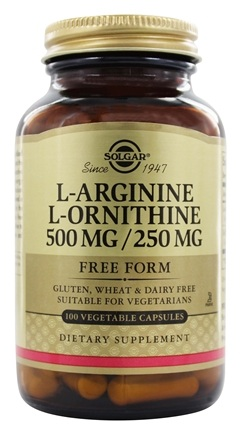 Zoom View - L-Arginine L-Ornithine Free Form 500 mg/250 mg