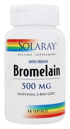 Solaray - Bromelain Extra Strength 500 mg. - 60 Capsules