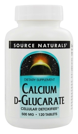 Source Naturals - Calcium D Glucarate Cellular Detoxifier 500 mg. - 120 Tablets