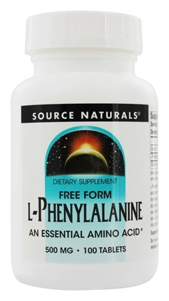 Source Naturals - L-Phenylalanine Essential Free Form Amino Acid 500 mg. - 100 Tablets