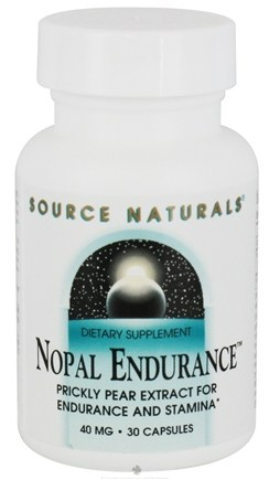 DROPPED: Source Naturals - Nopal Endurance 40 mg. - 30 Capsules CLEARANCE PRICED
