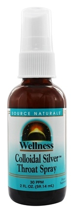 DROPPED: Source Naturals - Wellness Colloidal Silver Throat Spray 30 Ppm - 2 oz.