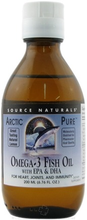 DROPPED: Source Naturals - ArcticPure Omega-3 Fish Oil with EPA & DHA Lemon Flavor - 200 ml.