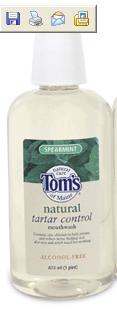 DROPPED: Tom's of Maine - Natural Tartar Control Fluoride Free Mouthwash Spearmint - 16 oz.