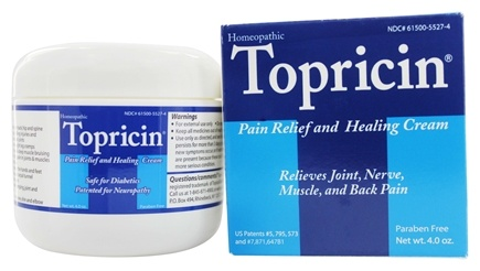 Topical BioMedics - Topricin Anti-Inflammatory Pain Relief and Healing Cream - 4 oz.