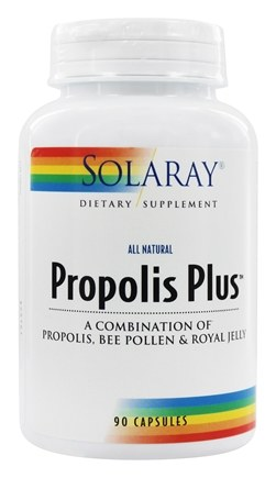 Solaray - Propolis Plus All Natural - 90 Capsules