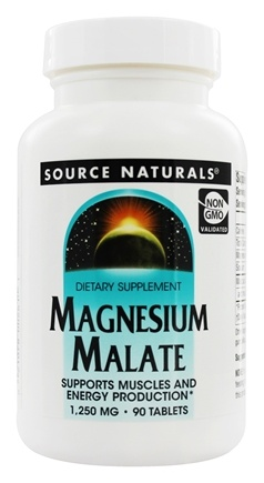 Source Naturals - Magnesium Malate 1250 mg. - 90 Tablets