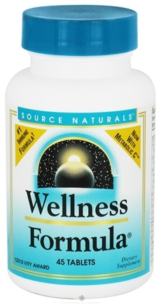 DROPPED: Source Naturals - Wellness Formula - 45 Tablets CLEARANCE PRICED