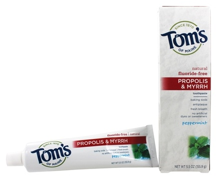 Tom's of Maine - Natural Toothpaste Propolis & Myrrh Fluoride-Free Peppermint - 5.5 oz.