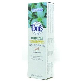 DROPPED: Tom's of Maine - Natural Antiplaque Plus Whitening Gel Toothpaste Peppermint - 5.5 oz.