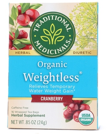 Zoom View - Organic Weightless Cranberry Herbal Tea Caffeine Free
