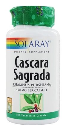 DROPPED: Solaray - Cascara Sagrada 450 mg. - 100 Capsules