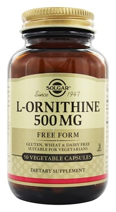 DROPPED: Solgar - L-Ornithine Free Form 500 mg. - 50 Vegetarian Capsules