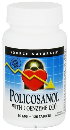 DROPPED: Source Naturals - Policosanol with Coenzyme Q10 10 mg. - 120 Tablets CLEARANCED PRICED