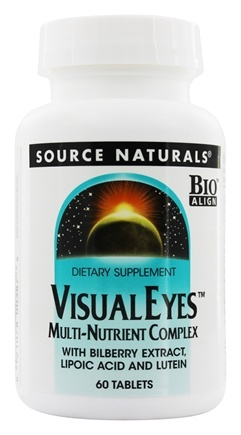 DROPPED: Source Naturals - Visual Eyes Multi-Nutrient Complex with Bilberry Extract Lipoic Acid & Lutein - 60 Tablets
