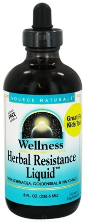 DROPPED: Source Naturals - Wellness Herbal Resistance Liquid Alcohol-Free - 8 oz.