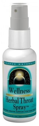 DROPPED: Source Naturals - Wellness Herbal Throat Spray - 1 oz.