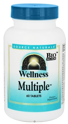 DROPPED: Source Naturals - Wellness Multiple Daily Defense System - 60 Tablets CLEARANCE PRICED