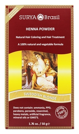 Surya Brasil - Henna Powder Natural Hair Coloring Swedish Blonde - 1.76 oz.