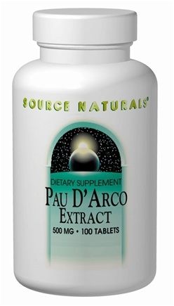 DROPPED: Source Naturals - Pau d'Arco 500 mg. - 100 Tablets