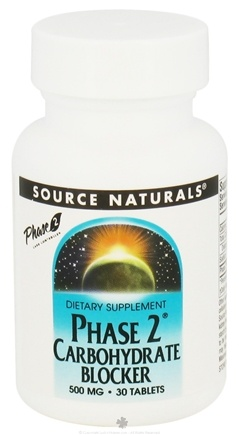 DROPPED: Source Naturals - Phase 2 Carbohydrate Blocker 500 mg. - 30 Tablets CLEARANCE PRICED