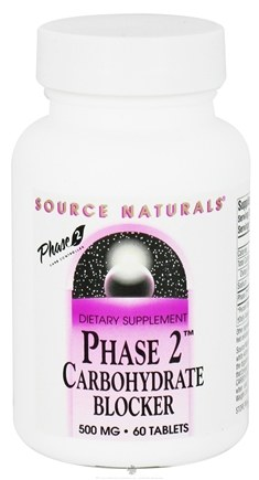 DROPPED: Source Naturals - Phase 2 Carbohydrate Blocker 500 mg. - 60 Tablets CLEARANCE PRICED